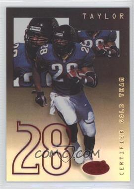 1999 Leaf Certified - Gold Team - Mirror Black #CGT4 - Fred Taylor /25