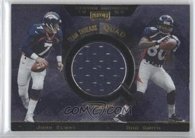 1999 Playoff Absolute SSD - Team Threads Quads #TQ28 - John Elway, Rod Smith, Terrell Davis, Ed McCaffrey