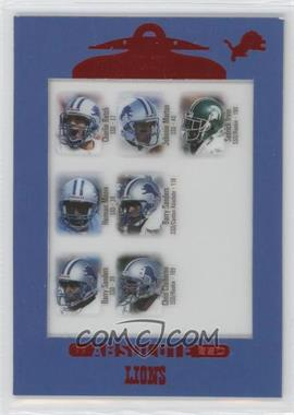 1999 Playoff Absolute SSD #140 - Charlie Batch, Johnnie Morton, Sedrick Irvin, Herman Moore, Barry Sanders, Chris Claiborne