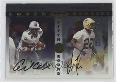 1999 Playoff Contenders SSD Round Numbers Autographs #RN10 - Cecil Collins, De'Mond Parker
