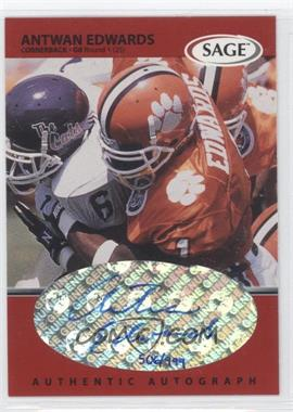 1999 SAGE Autographs Red #A16 - Antwan Edwards /999