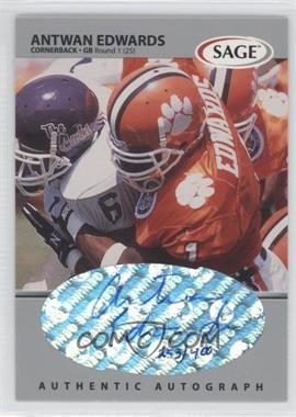 1999 SAGE Autographs Silver #A16 - Antuan Edwards /400