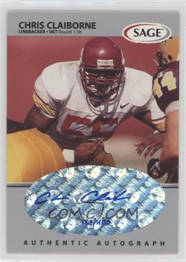 1999 SAGE Autographs Silver #A9 - Chris Claiborne /400