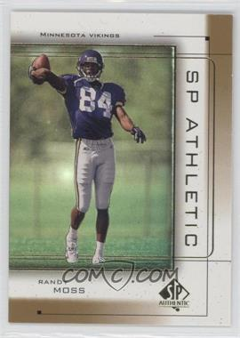 1999 SP Authentic Athletic #A1 - Randy Moss