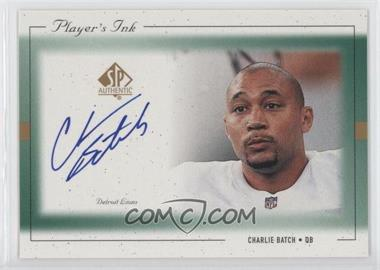 1999 SP Authentic Player's Ink #CH-A - Charlie Batch