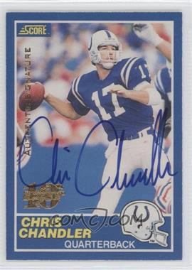 1999 Score 10th Anniversary Reprints Autographs [Autographed] #17 - Chris Chandler /150