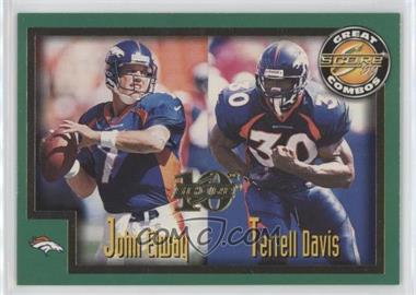 1999 Score 10th Anniversary Showcase #271 - John Elway, Terrell Davis /1989