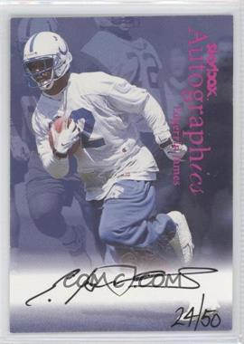 1999 Skybox Premium Autographics Red Foil #EDJA - Edgerrin James /50