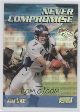 1999 Stadium Club Chrome Never Compromise Refractor #NC37 - John Elway