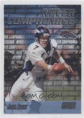 1999 Stadium Club Chrome Never Compromise #NC37 - John Elway