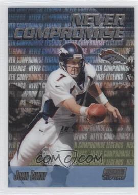 1999 Stadium Club Chrome Never Compromise #NC37 - John Elway
