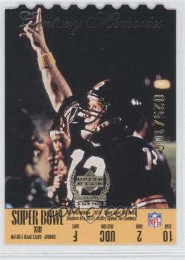 1999 Upper Deck Century Legends Die-Cut #165 - Terry Bradshaw /100
