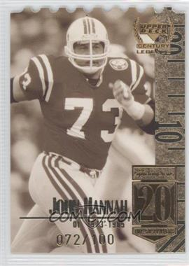 1999 Upper Deck Century Legends Die-Cut #20 - John Hannah /100