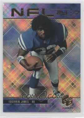 1999 Upper Deck HoloGrFX NFL 24-7 Gold #N11 - Edgerrin James