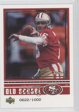 1999 Upper Deck Retro Old School/New School #ON 2 - Jake Plummer /1000