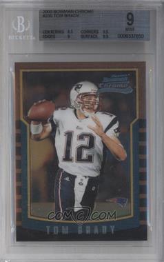 2000 Bowman Chrome #236 - Tom Brady [BGS9]