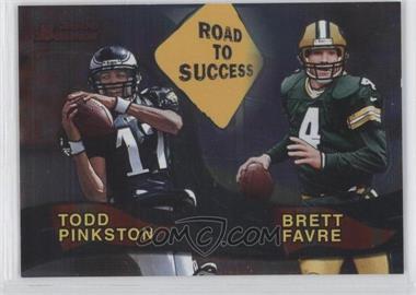 2000 Bowman Road to Success #R8 - Todd Pinkston, Brett Favre