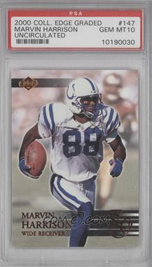 2000 Collector's Edge Graded Uncirculated #147 - Marvin Harrison /5000 [PSA 10]