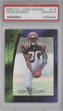 2000 Collector's Edge Odyssey Retail #114 - Peter Warrick [PSA 10]