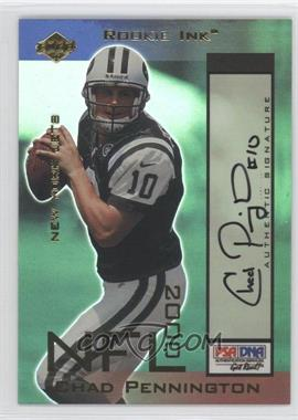 2000 Collector's Edge Odyssey Rookie Ink #CP - Chad Pennington /510