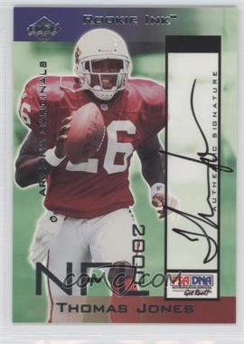 2000 Collector's Edge T3 Rookie Ink #TJ - Thomas Jones