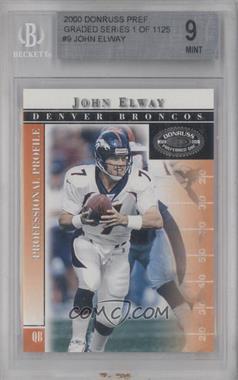 2000 Donruss Preferred QBC #9 - John Elway [BGS9]