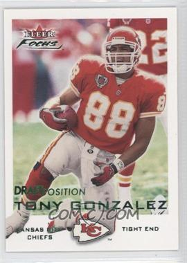2000 Fleer Focus Draft Position #55 - Tony Gonzalez /113