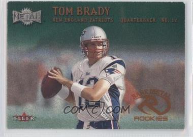 2000 Fleer Metal Emerald #267 - Tom Brady