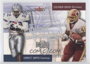 2000 Fleer Metal Sunday Showdown #1 SS - Emmitt Smith, Stephen Davis