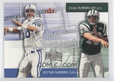 2000 Fleer Metal Sunday Showdown #6 SS - Peyton Manning