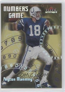 2000 Fleer Mystique - Numbers Game #2 NG - Peyton Manning