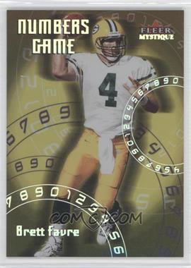 2000 Fleer Mystique - Numbers Game #5 NG - Brett Favre