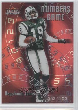 2000 Fleer Mystique [???] #3NG - Keyshawn Johnson /100