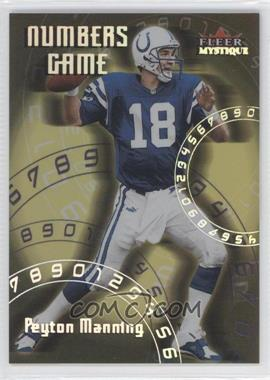 2000 Fleer Mystique Numbers Game #2 NG - Peyton Manning