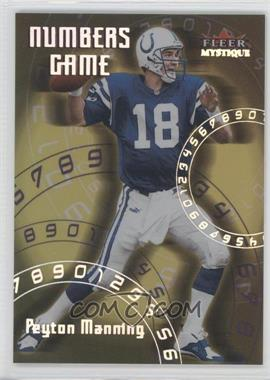 2000 Fleer Mystique Numbers Game #2 NG - Peyton Manning