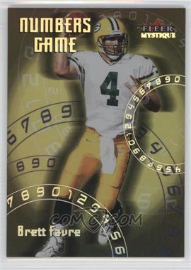 2000 Fleer Mystique Numbers Game #5 NG - Brett Favre