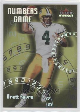 2000 Fleer Mystique Numbers Game #5 NG - Brett Favre