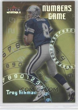 2000 Fleer Mystique Numbers Game #7 NG - Troy Aikman