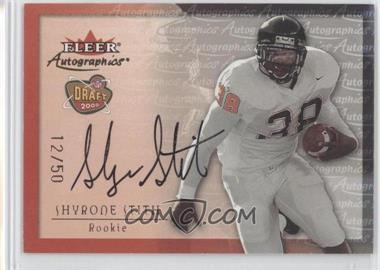 2000 Fleer Tradition Autographics Gold #SHST - Shyrone Stith /50