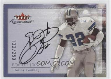 2000 Fleer Tradition Autographics Silver #EMSM - Emmitt Smith /250