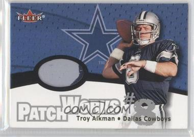 2000 Fleer Tradition Patchworks #N/A - Troy Aikman