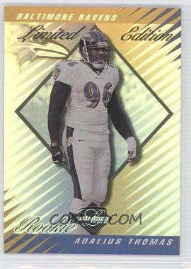 2000 Leaf Limited - [Base] - Limited Edition #274 - Adalius Thomas /50