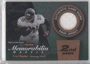 2000 Leaf Limited - Piece of the Game Preview Memorabilia Marker - 2nd Down #FT28-W - Fred Taylor /100
