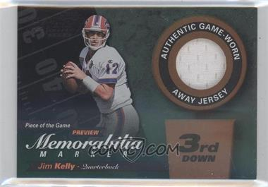 2000 Leaf Limited - Piece of the Game Preview Memorabilia Marker - 3rd Down #JK12-W - Jim Kelly /300