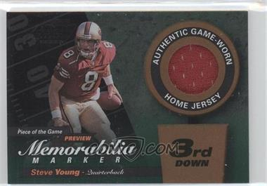2000 Leaf Limited Piece of the Game Preview Memorabilia Marker 3rd Down #8 - Steve Young /300