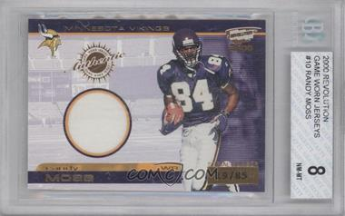 2000 Pacific Revolution Game Worn Jerseys #10 - Randy Moss /85 [BGS 8]