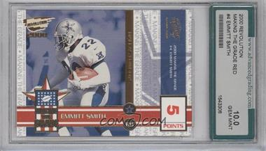 2000 Pacific Revolution Making the Grade 5 Point Red #4 - Emmitt Smith [ENCASED]