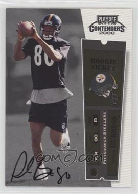 2000 Playoff Contenders - [Base] #108 - Plaxico Burress