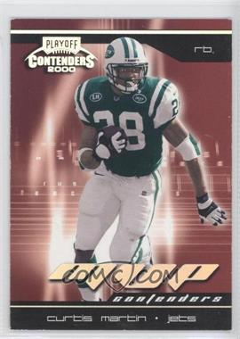 2000 Playoff Contenders [???] #MVP-17 - Curtis Martin