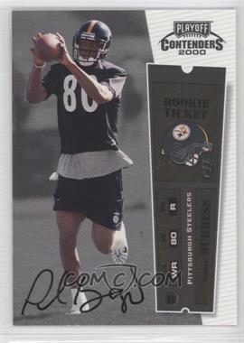 2000 Playoff Contenders #108 - Plaxico Burress